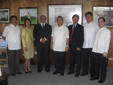CVMR®'s meeting with the Philippine Government's Secretary of Environment and Natural Resources in Manila. From left to right: Horacio C. Ramos, Director of Mines & Geosciences Bureau; Marylin A. Vitorio - Acquino, LLB, CVMR®'s Corporate Secretary; Kamran M. Khozan, CVMR®'s President and C.E.O.; Gen.(rtd) Angelo T. Reyes, Secretary of the Department of Environment and Natural Resources, Philippines; Garzon Duenas, CVMR®'s Managing Director; Ramon J.P. Paje, Undersecretary for Mines & Geosciences; Attorney Allan Verman Y. Ong, CVMR®'s Corporate Assistant Secretary