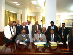 The CVMR® team with Khalid Mahfoudh Bahah at the granting of exploration permits for CVMR®'s Yemen activities
