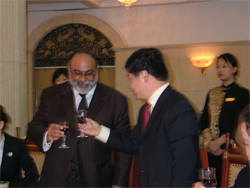 Dinner with the Governor of Jiangxi Province, China