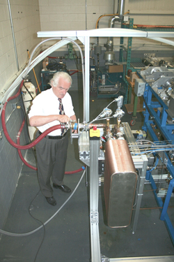 CVMR®'s Director of Process Engineering testing a Prototype
