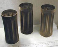 0.5mm thick nickel seamless net shapes formed from 1 aluminum master, used for sonar equipment by the Canadian Navy