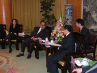 The Governor of Jianxi Province China, meeting with Kamran M. Khozan, President and C.E.O. of CVMR® accompanied by Amy McQuade, Vice-President of Amex Stock Exchange
