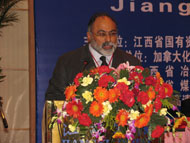 "Kamran M. Khozan, President and C.E.O. of CVMR®, addressing the conference ""Jiangxi Overseas Listing Summit"" (March 2005)"