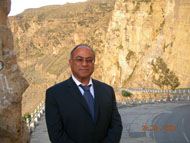 Kamran M. Khozan, President & CEO in Yemen, near one of the CVMR® concessions