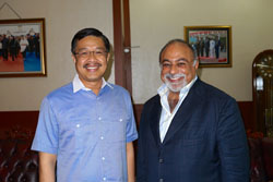 Kamran M. Khozan with  the Governor of South East Sulawesi, Indonesia Mr. Nur Alam, in Indonesia