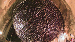 The SNO (Sudbury Neutrino Observer) detector is a sphere measuring 12 meters in diameter where experiments were conducted between 2002 and 2006 to identify the subatomic particles.